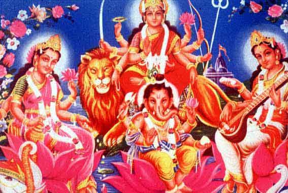 laxmi-ganesha-durga-saraswati